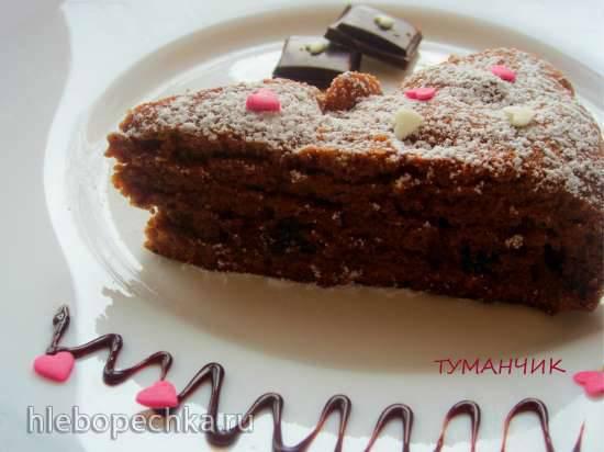 Кекс ленивый Чернослив в шоколаде (можно в пиццепечке)