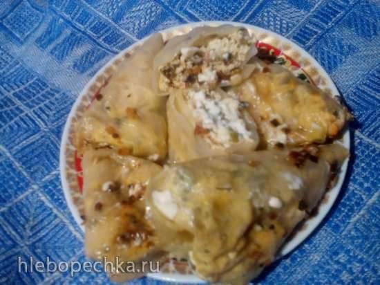 """Капустные """"ушки"""" с творогом (по мотивам рецепта Ганны Грабовской) в Tortilla Chef 118000 Princess"""