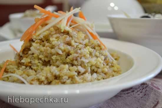 Каша рисово-пшенная с многозерновыми хлопьями (мультиварка Redmond RMC-01)