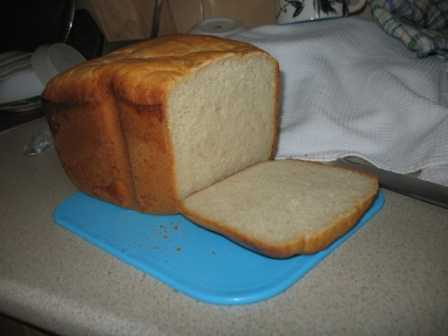 Хлеб с плавленым сырком (хлебопечка)