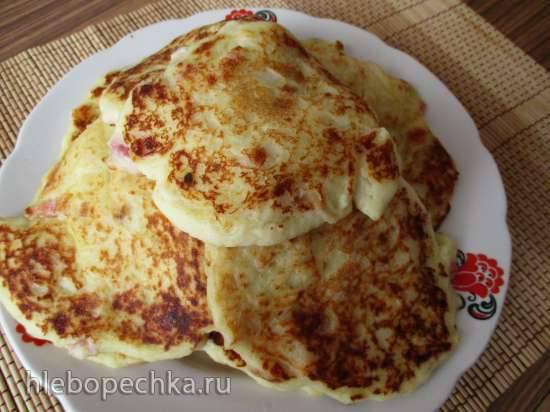Картофельные оладьи с сыром и беконом из картофельных хлопьев Картофельные оладьи с сыром и беконом из картофельных хлопьев