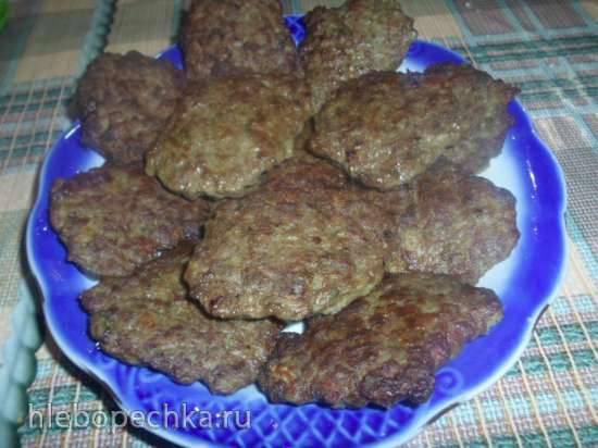 Печеночные котлетки с картофелем