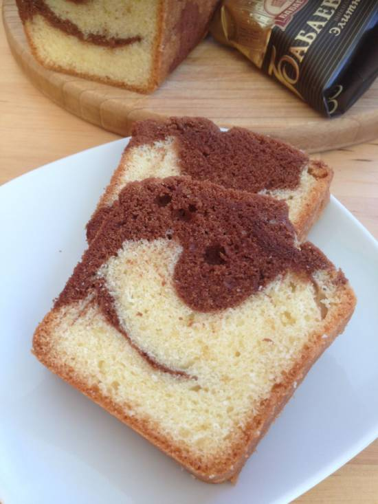 Мраморный пирог с шоколадом (marbre au chocolat) Поля Бокюза Мраморный пирог с шоколадом (marbre au chocolat) Поля Бокюза