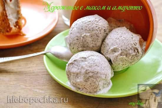"""Мороженое с маком и """"Амаретто"""" (миксер) Мороженое с маком и """"Амаретто"""" (миксер)"""