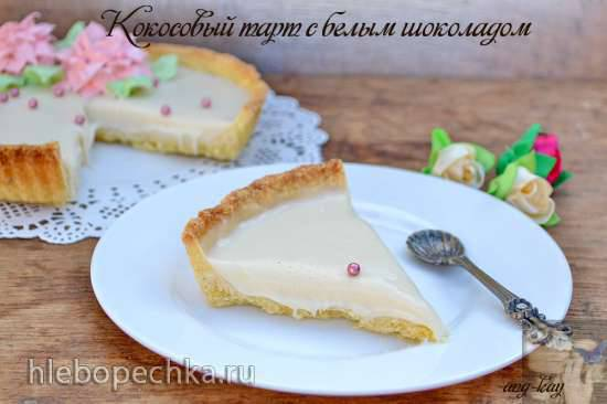 Крем-десерт с белым шоколадом и чаем матча