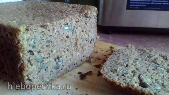 100% Ржаной хлеб с льняными и тыквенными семечками