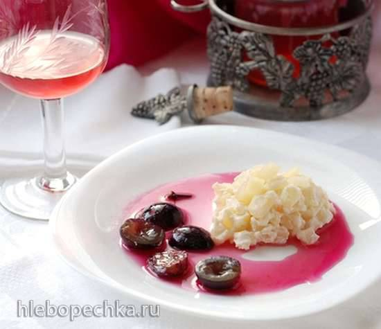 Грушевый крем с виноградомГрушевый крем с виноградом