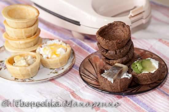 Тарталетки со сгущенкой (без выпечки)
