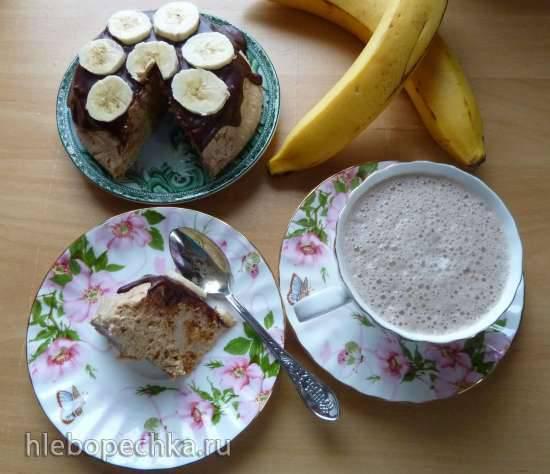 Десерт творожно-банановый с грецким орехом