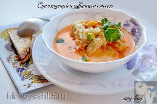 Суп с курицей и гавайской смесью Суп с курицей и гавайской смесью