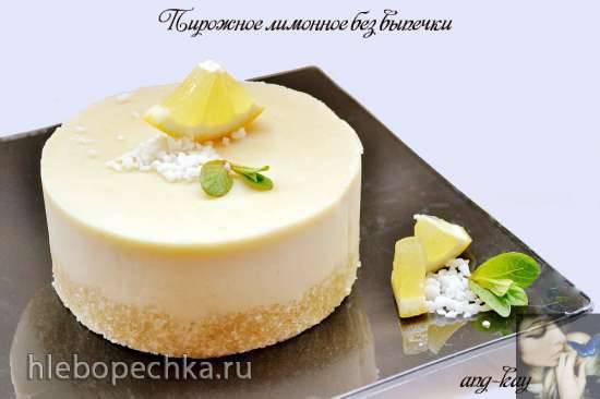 Пирожное лимонное без выпечки (постное, вегетарианское) Пирожное лимонное без выпечки (постное, вегетарианское)