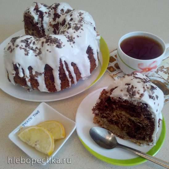 Кекс с черносливом и шоколадом в форме Nоrdic Ware