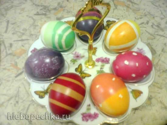 Украшение яиц к Пасхе