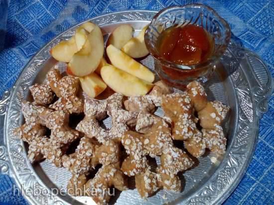 Звёздочки цельнозерновые с яблоками (прибор для выпечки Tortilla Chef 118000 Princess) Звёздочки цельнозерновые с яблоками (прибор для выпечки Tortilla Chef 118000 Princess)