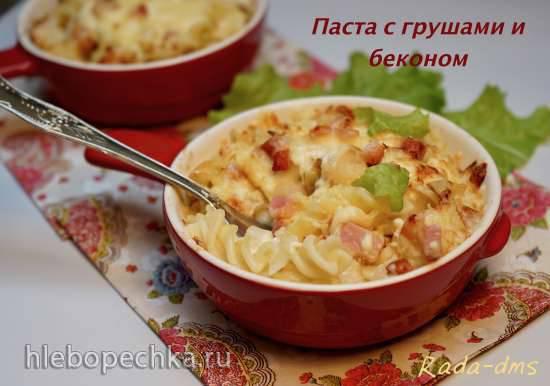 Паста с беконом и грушами запеченная Паста с беконом и грушами запеченная
