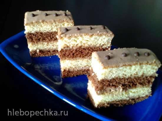 """Пирожное """"Дуэт в шоколаде"""""""