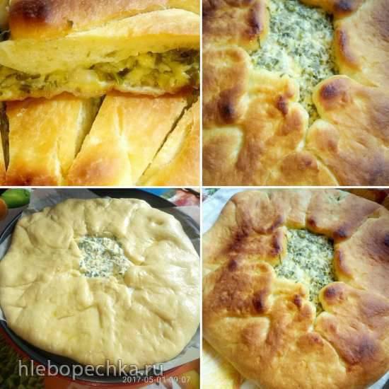 Пирог из кефирного теста