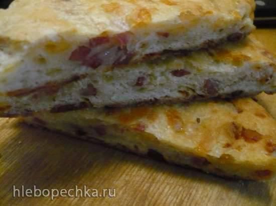 Ленивый сырный пирог на кефире Ленивый сырный пирог на кефире