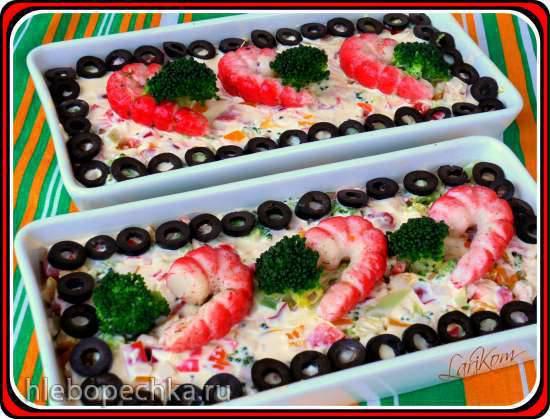 Крабовый салат с брокколиКрабовый салат с брокколи