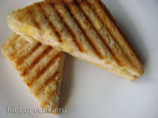 Горячие бутерброды а-ля панини к завтраку за 5 минут Горячие бутерброды а-ля панини к завтраку за 5 минут