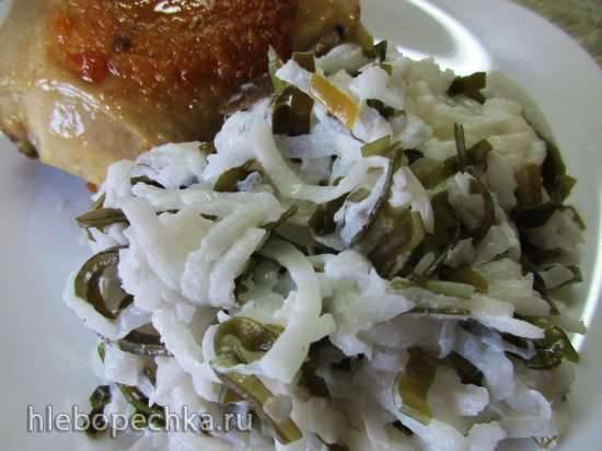 Салат из белой редьки и морской капустыСалат из белой редьки и морской капусты
