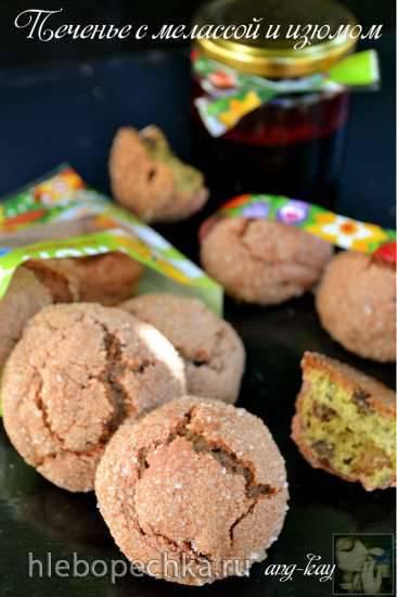 Печенье с мелассой и изюмом Печенье с мелассой и изюмом