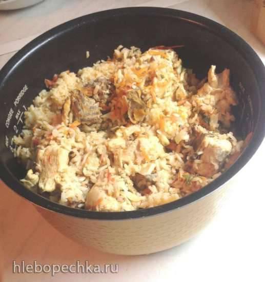 Плов с красным рисом и курицей (мультиварка Redmond RMC-01)