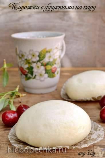 Пирожки с фруктами на пару (постные)