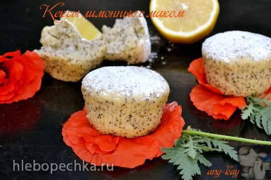 Кексы лимонные с маком (постные)