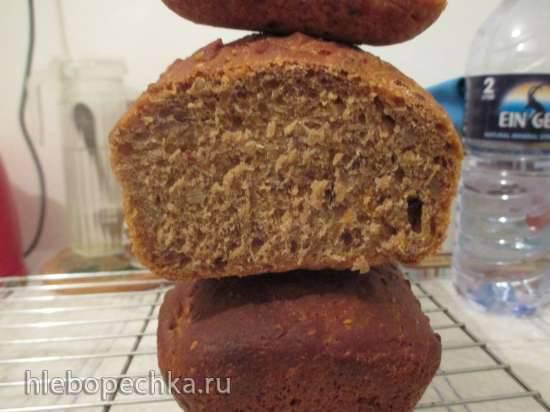 Пшенично-цельнозерновой хлеб с вяленными помидорами