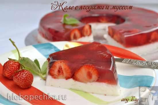 Желе с ягодами и муссом Желе с ягодами и муссом
