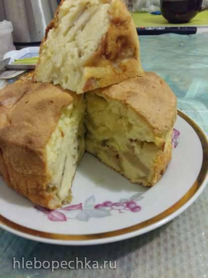Шарлотка бананово-яблочная (мини-печь steba KB23eco)