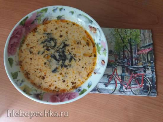 Суп сырный с кабачками и помидорами