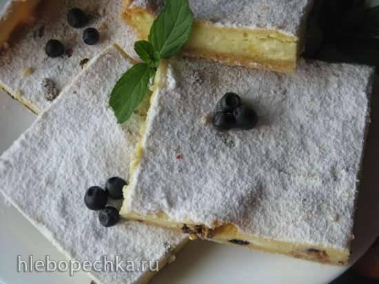 Творожный пирог с изюмом и лимонной ноткой Творожный пирог с изюмом и лимонной ноткой