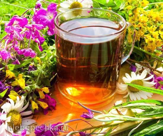Чайный микс Иван-чая с листьями садовых растений и ольхи Чайный микс Иван-чая с листьями садовых растений и ольхи