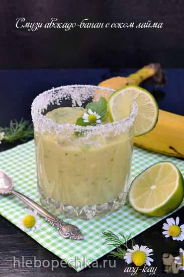 Смузи авокадо-банан с соком лайма Смузи авокадо-банан с соком лайма