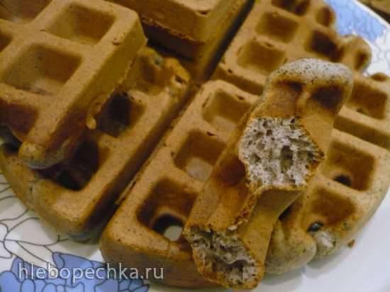 Маковые вафли (вафельница Gfgrill GF-020 Waffle Pro)