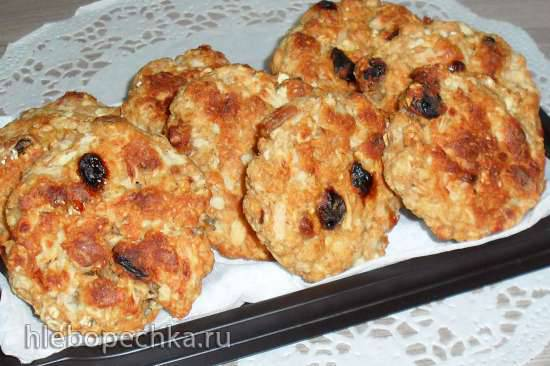 Диетические овсяно-яблочные печеньки Диетические овсяно-яблочные печеньки