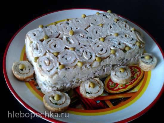 Салат с мясом Завитушки
