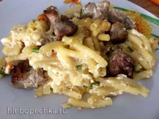 """Конкурс от Steba """"Блюда из духовки""""Макароны с мясом в сырной заливке в духовке"""