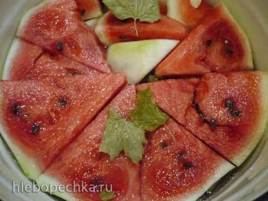 Соленый арбуз (для хранения в погребе или холодильнике)