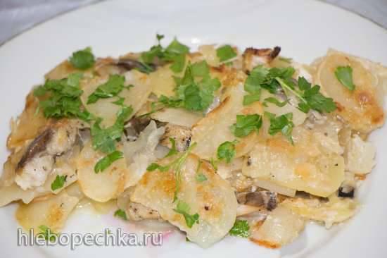 Сегодня день сельди - готовим селедочку в разных вариантах Запеканка из сельди с луком и картошкой