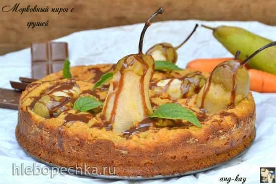 Морковный пирог с грушей