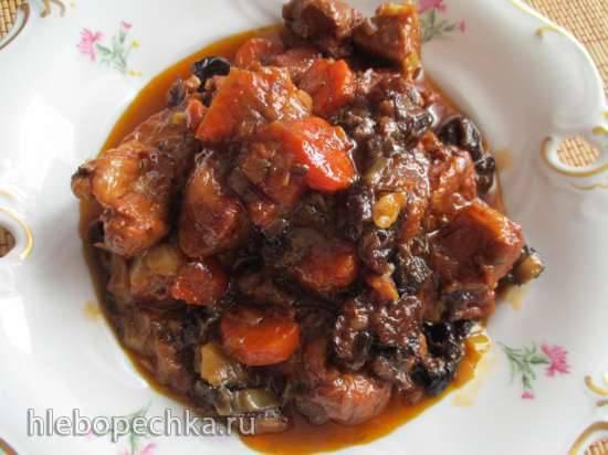 Рагу из свинины с черносливом в мультиварке (по рецепту Джейми Оливера)
