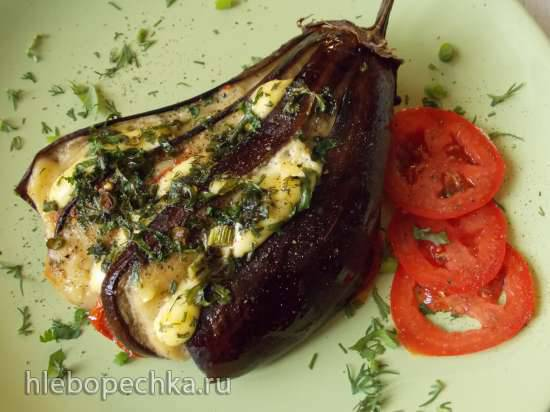 Баклажаны, запечёные в духовке с сыром и помидорами другим манером Баклажаны, запечёные в духовке с сыром и помидорами другим манером