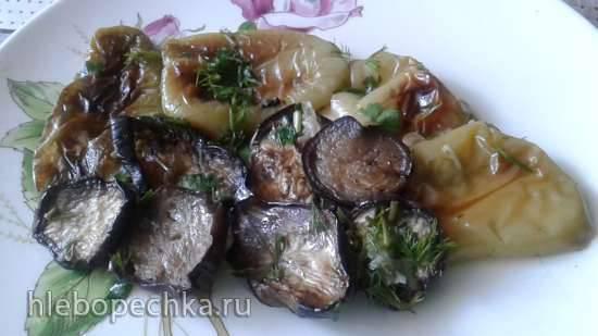 Закуска из маринованных баклажанов и перцев на гриле Закуска из маринованных баклажанов и перцев на гриле