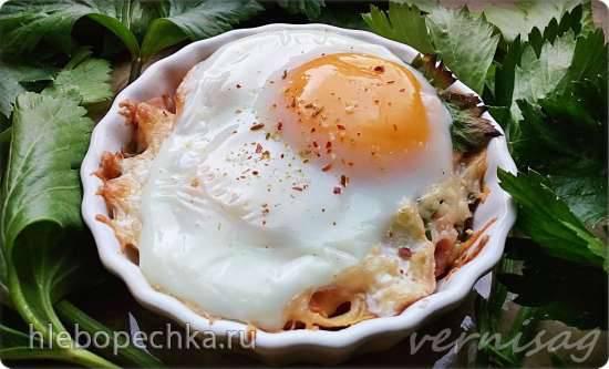 Яйца кокот в духовке
