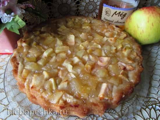 Сочный пирог Медовые яблоки