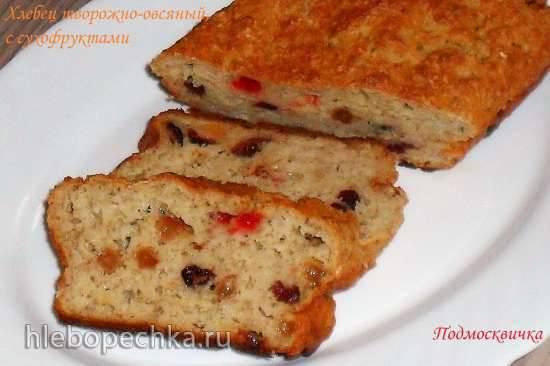 Хлебец творожно-овсяный с сухофруктами