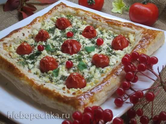 Тарт закусочный с помидорами